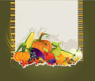 Harvest card Royalty Free Stock Image