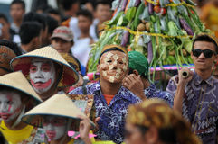 Harvest celebrations in Indonesia Royalty Free Stock Photo