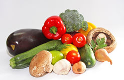 Harvest. Close-up. Fresh vegetables isolated on wh Royalty Free Stock Photos