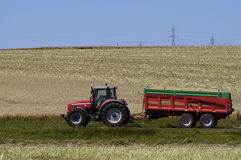 The harvest of colza Stock Photo
