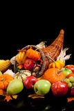 Harvest cornucopia Stock Photo