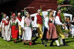 Harvest dance Stock Image