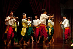 Harvest Dance, Cambodia Royalty Free Stock Image