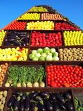 Harvest day vegetables pyramid Stock Photos