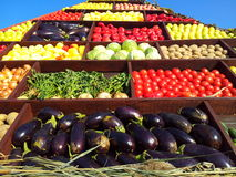 Harvest day vegetables pyramid Stock Image