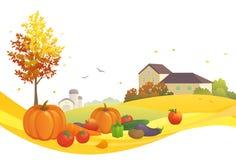 Harvest design. Illustration of an autumn harvest scene Royalty Free Stock Images
