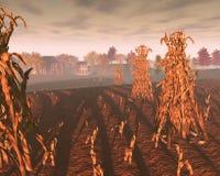 Harvest_farm_dawn royalty free stock image