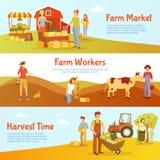 Harvest Farm Horizontal Banners Stock Photos
