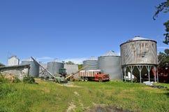 Harvest farm scene Stock Images