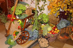 Harvest festival decorative composition Royalty Free Stock Photo
