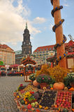 Harvest festival on Dresden's main square, Germany Stock Photo