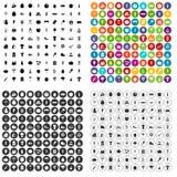 100 harvest festival icons set vector variant. 100 harvest festival icons set vector in 4 variant for any web design isolated on white stock illustration