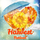 Harvest Festival Poster. EPS 10 Stock Photos