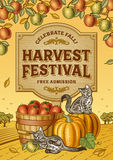 Harvest Festival Poster Stock Photo