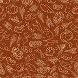 Harvest festival seamless pattern with vegetables Royalty Free Stock Photography