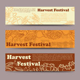 Harvest festival vegetable horizontal banners Royalty Free Stock Photo