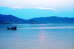 Harvest fishing. Boats come back Royalty Free Stock Images