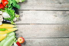 Harvest of fresh vegetables Stock Photography