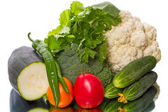 Harvest fresh vegetables on the table Royalty Free Stock Image