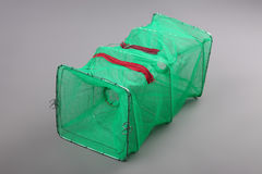 Harvest gear of rectangular shrimp cage for fishing tackle Stock Image