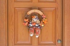 Harvest Greeting Wreath Stock Image