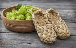 Harvest of hops Stock Image