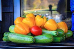 Harvest in late autumn. stock image