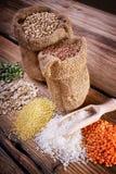 Harvest mature cereals Stock Images