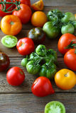 Harvest of mix tomatoes Royalty Free Stock Photo