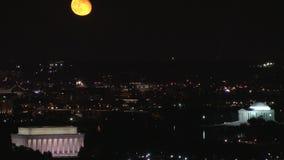 Harvest moon over dc timelapse stock video