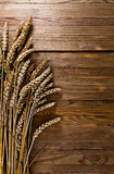 Harvest on old wooden table Stock Photography