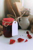 Harvest rustic homemade jam Royalty Free Stock Image