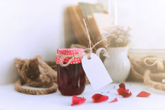Harvest rustic homemade jam Stock Photography