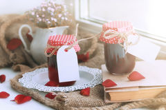 Harvest rustic homemade jam Royalty Free Stock Photography
