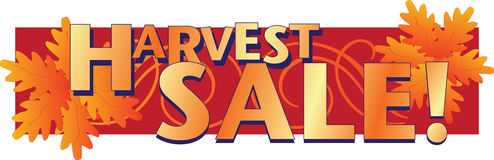 Harvest Sale! Stock Photos