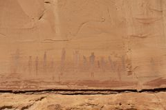 Harvest Scene, native American rock paintings Royalty Free Stock Photos