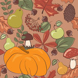 Harvest seamless pattern Stock Image