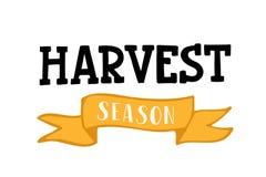 Harvest season lettering typography stock illustration