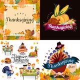 Harvest set, organic foods like fruit and vegetables, happy thanksgiving dinner background, vector illustration Royalty Free Stock Photo