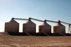 Harvest Storage. Silos and Conveyors Stock Photos