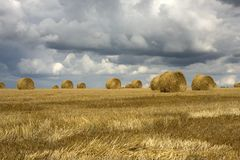 Harvest and storm Royalty Free Stock Photography