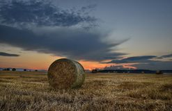 Harvest Sunset Royalty Free Stock Images
