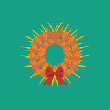 Harvest thanksgiving wreath Royalty Free Stock Image