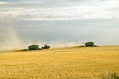 Harvest time 2. Combining crops, such as wheat or barley Royalty Free Stock Photography