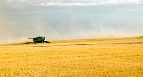 Harvest time 5. Combining crops, such as wheat or barley Stock Photo