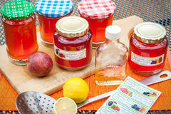 Harvest time - homemade apple jelly Royalty Free Stock Photos