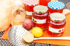 Harvest time - homemade apple jelly Stock Photography