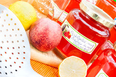 Harvest time - homemade apple jelly Royalty Free Stock Photo