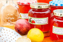 Harvest time - homemade apple jelly Royalty Free Stock Image