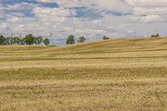 Harvest time - Polish rural view. Stock Image